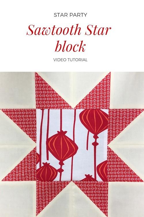 Sawtooth star quilt block - video tutorial