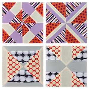 Coordinated strips, Turnabout patchwork book, Teresa Mairal Barreu