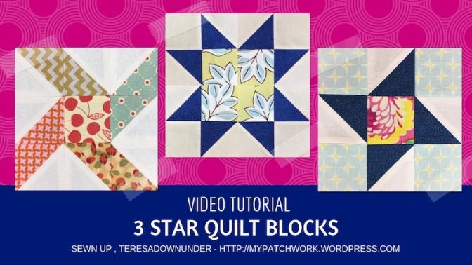 3 star quilt blocks - video tutorial