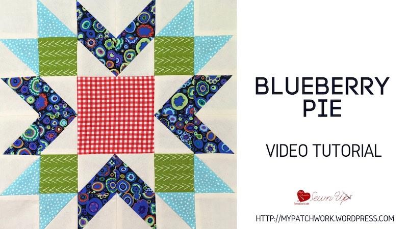 Blueberry pie quilt block - video tutorial