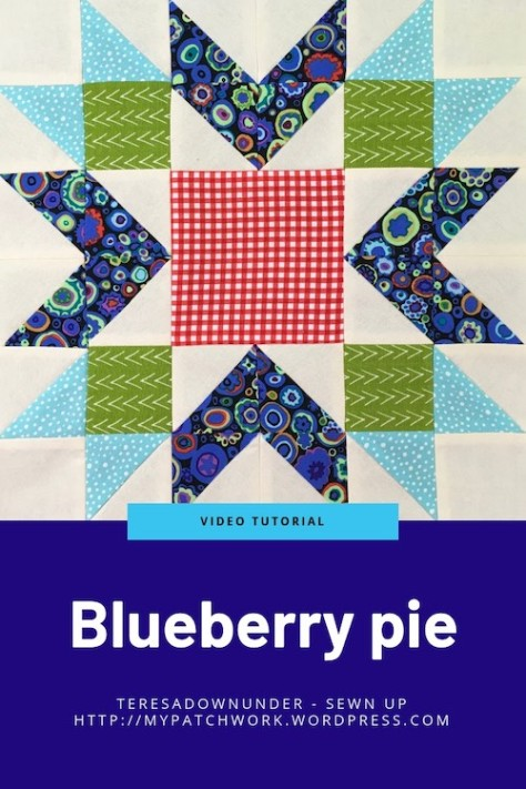 Blueberry pie quilt block - video tutorial