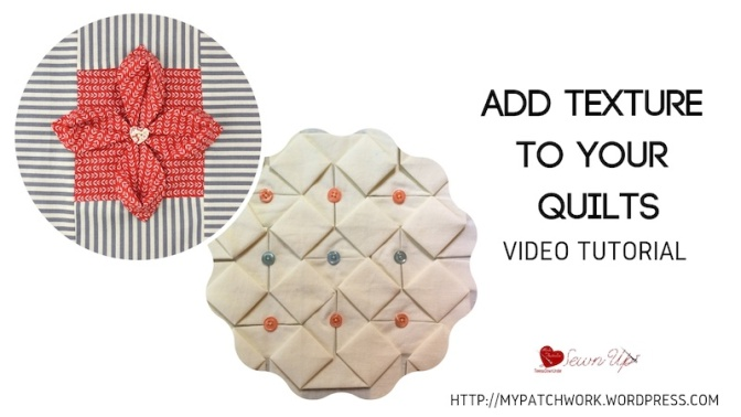 Add texture to your quilts - 2 fabric folding techniques video tutorial