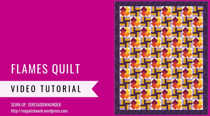Flames quilt tutorial