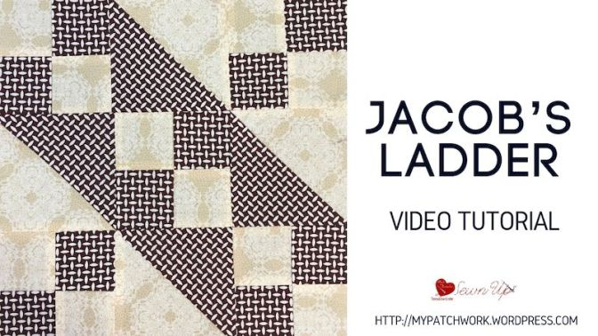 Jacob's ladder quilt block – video tutorial