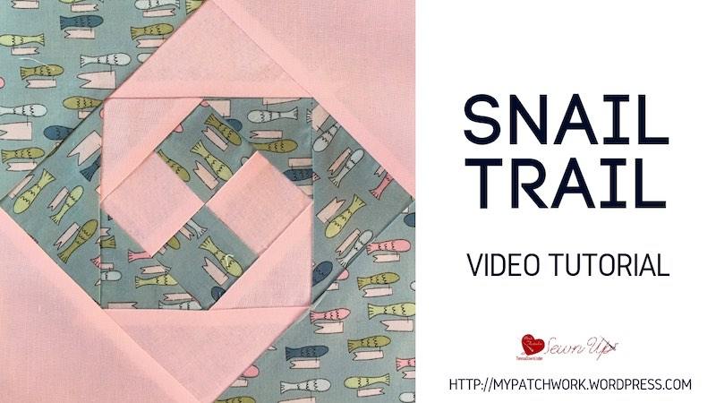 Snail trail quilt block video tutorial