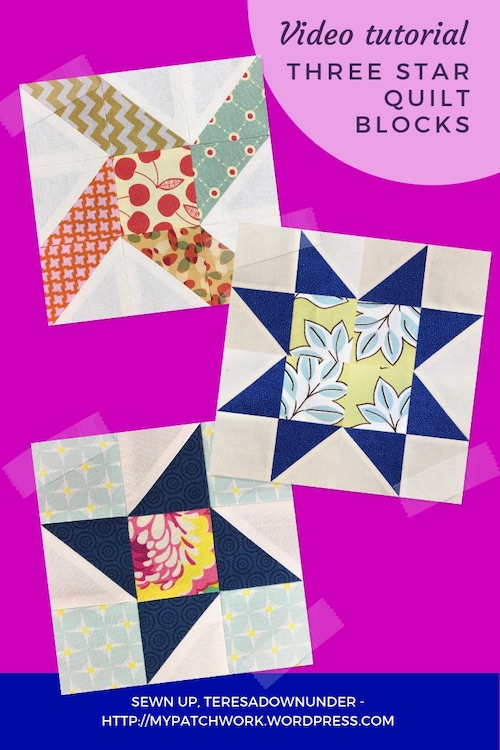 3 star quilt blocks - video tutorial