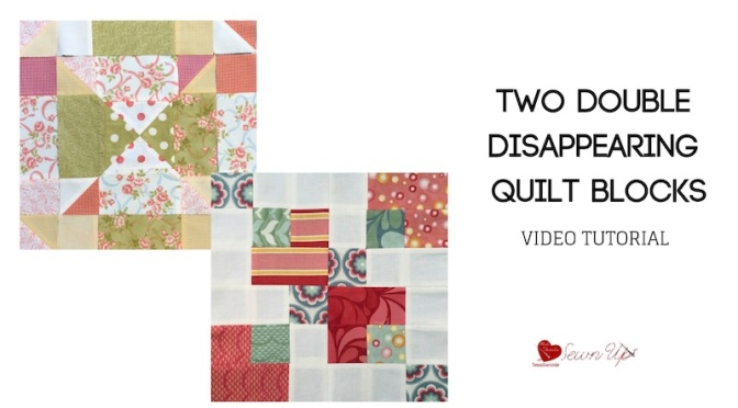 2 double disappearing nine patch quilt blocks