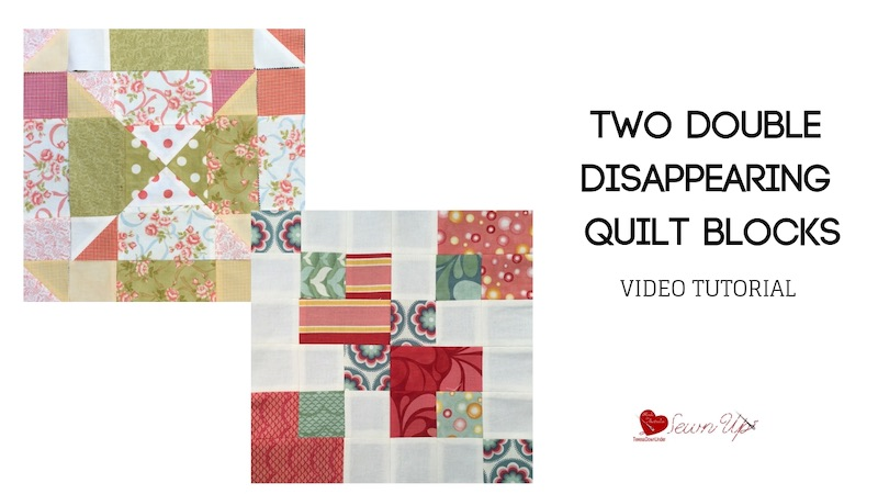 Double disappearing nine patch quilt blocks video tutorial