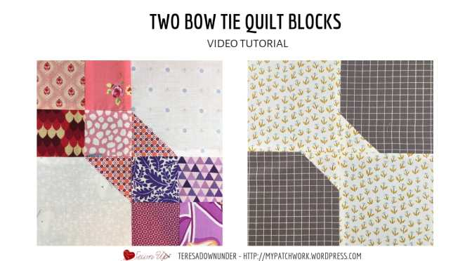 Two Bow tie quilt block