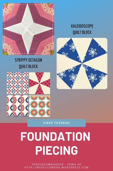 Foundation piecing video tutorial