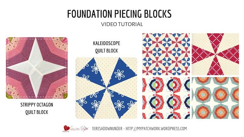 Foundation piecing video tutorial