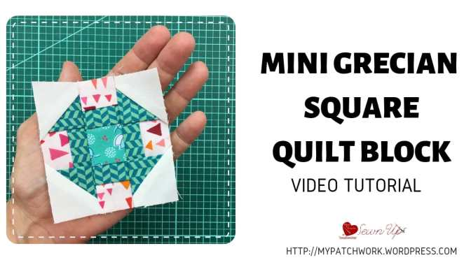 Mini Grecian square quilt block – Tiny quilt QAL