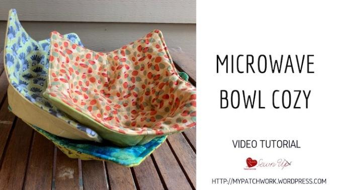 Microwave bowl cozy – video tutorial