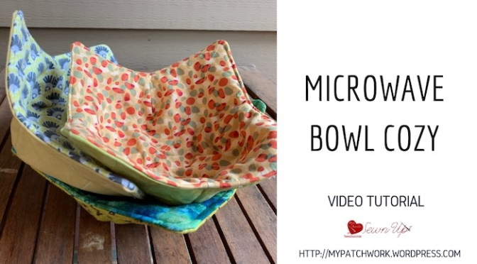 Microwave bowl cozy – video tutorial