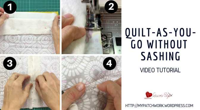 Quilt-As-you-Go without sashing – video tutorial