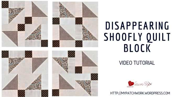 Disappearing shoofly quilt block