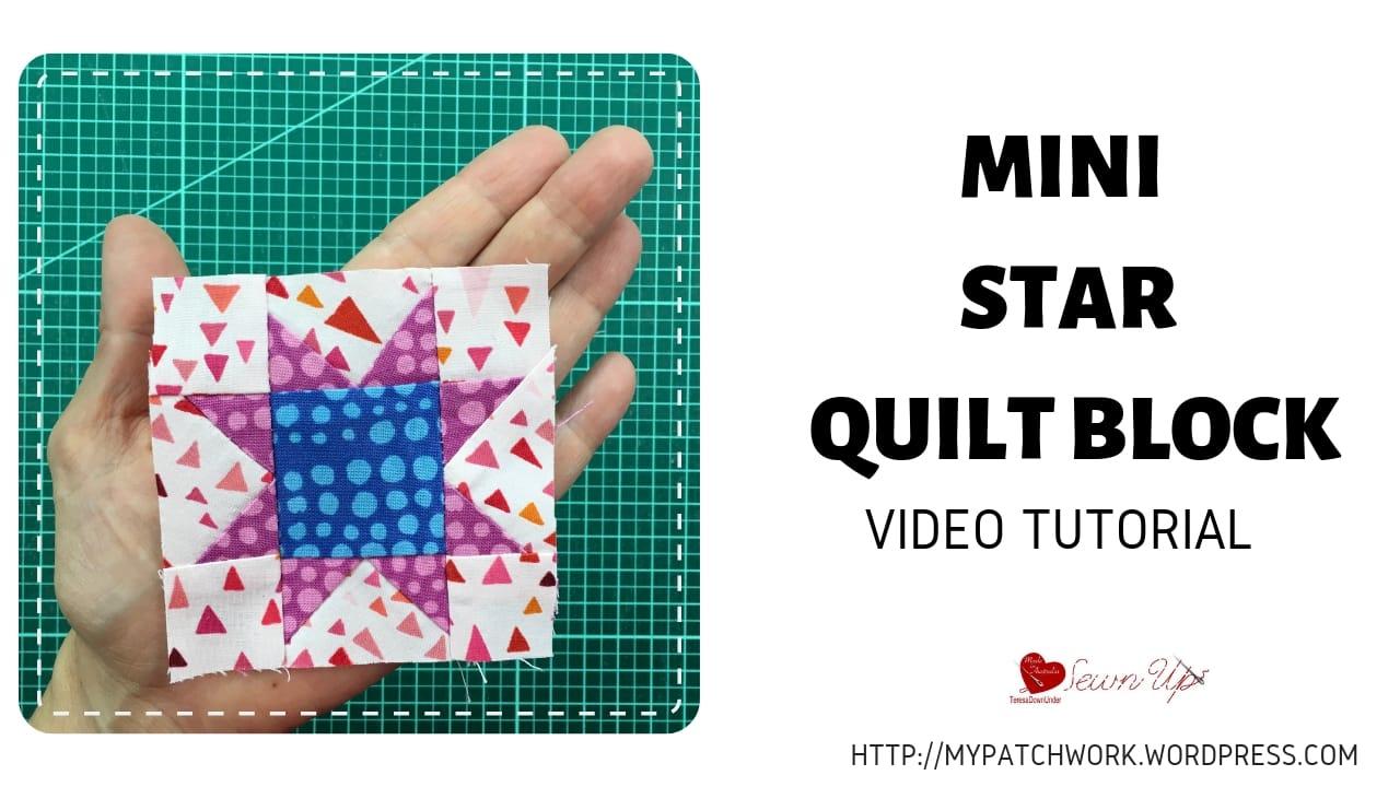 Mini sawtooth star quilt block video tutorial