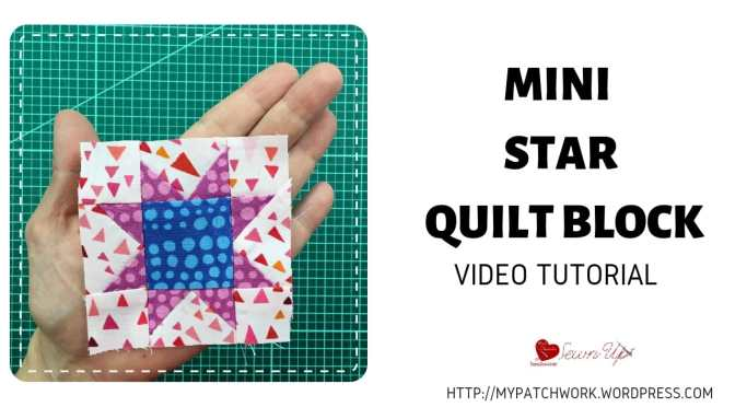 Mini Sawtooth star quilt block – Tiny quilt QAL