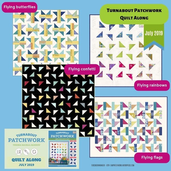Turnabout patchwork quilt along