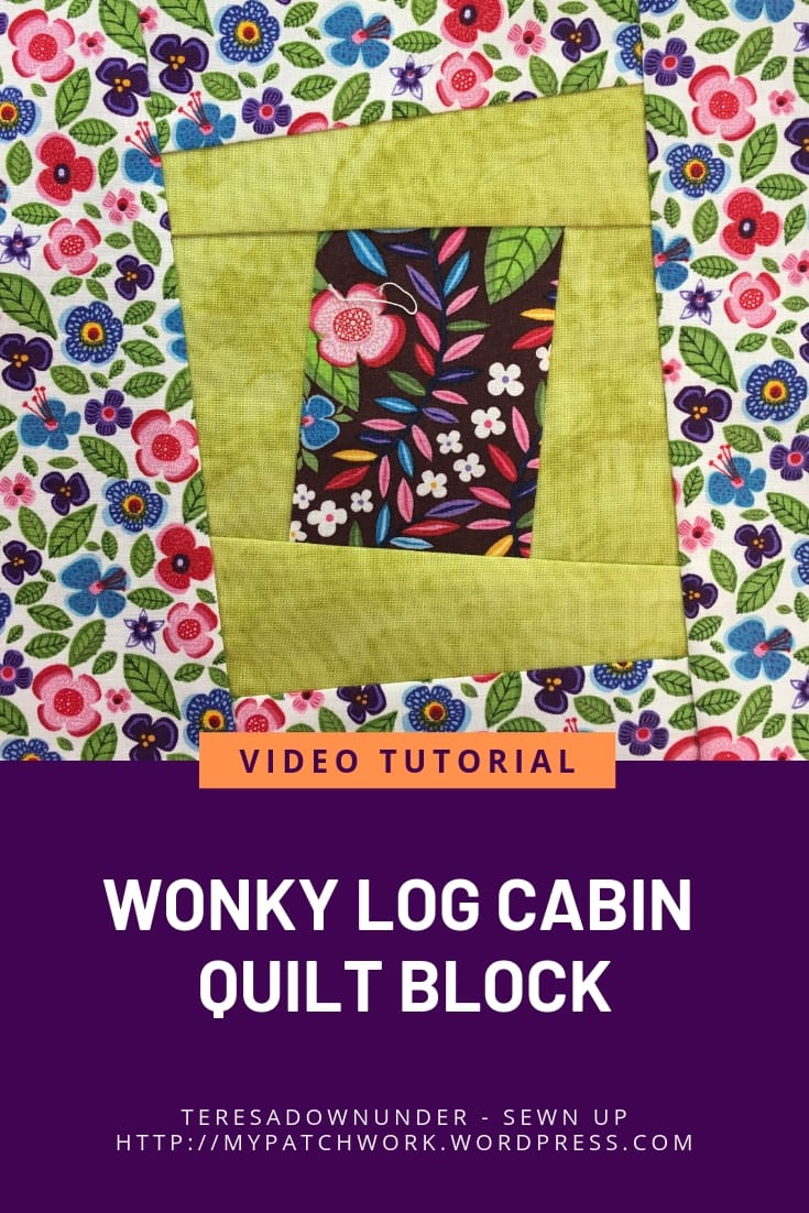 Wonky log cabin block - video tutorial