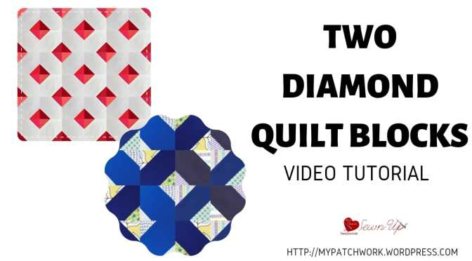 Two diamond quilt blocks video tutorial