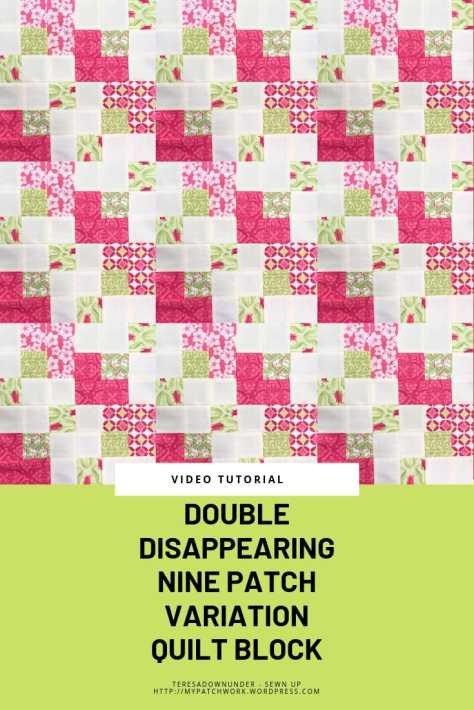 Double disappearing nine patch quilt blok