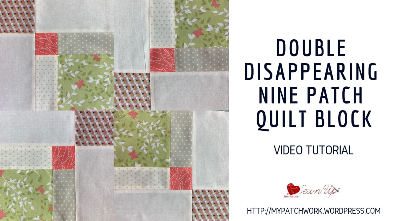 Double disappearing 9 patch quilt block with a twist