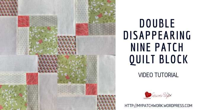 Double Disappearing nine patch quilt block variation