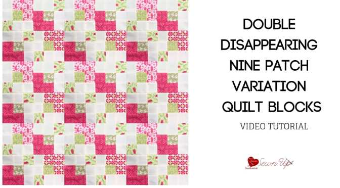 Double Disappearing nine  patch variation quilt block