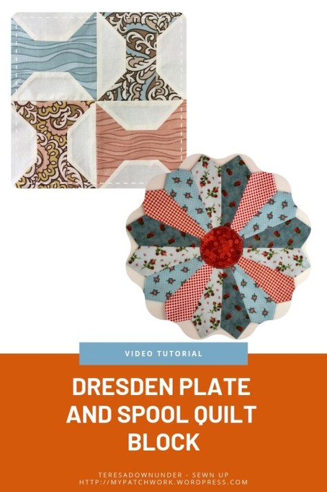 Dresden plate and spool quilt block