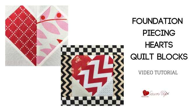 Foundation piecing heart blocks