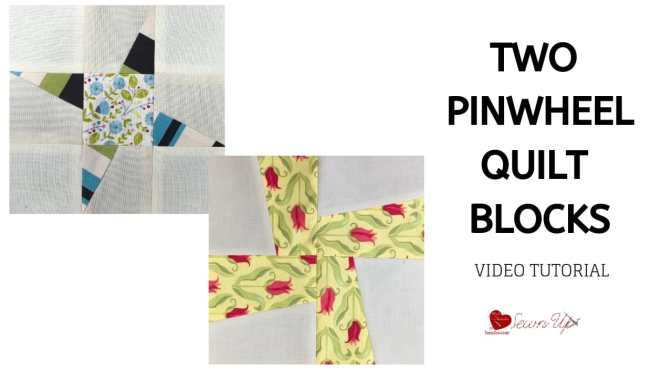 Two cute pinwheel quilt blocks video tutorial