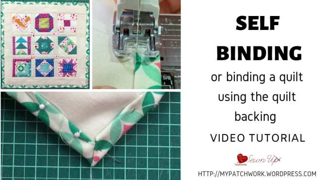 Self-binding a quilt – Tiny quilt QAL