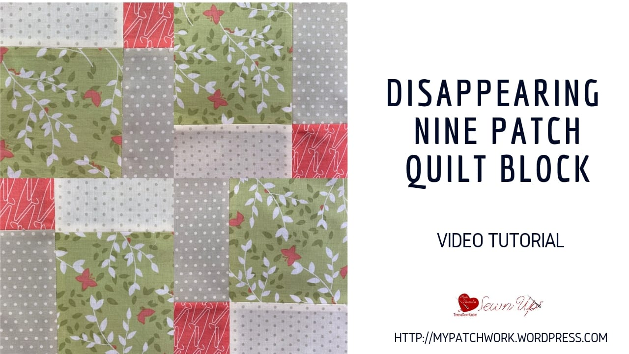 Simple disappearing nine patch quilt block