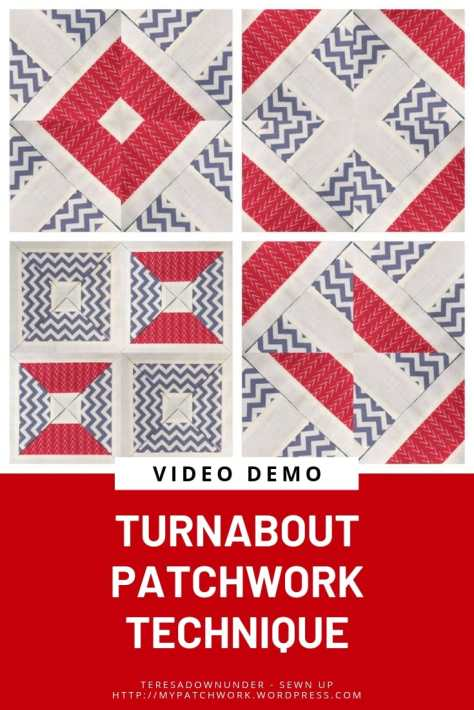 Turnabout patchwork technique