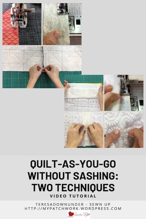 2 techniques: quilt as you go