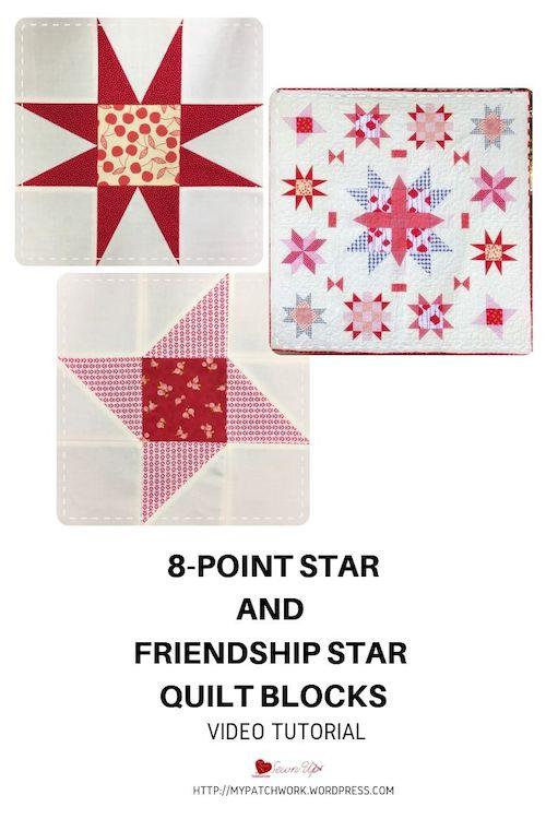 8-point star and friendship star quilt blocks