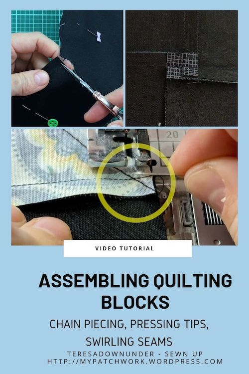Turnabout patchwork QAL: assembling quilting blocks