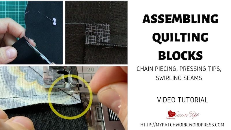 Turnabout patchwork QAL - assembling the quilting blocks