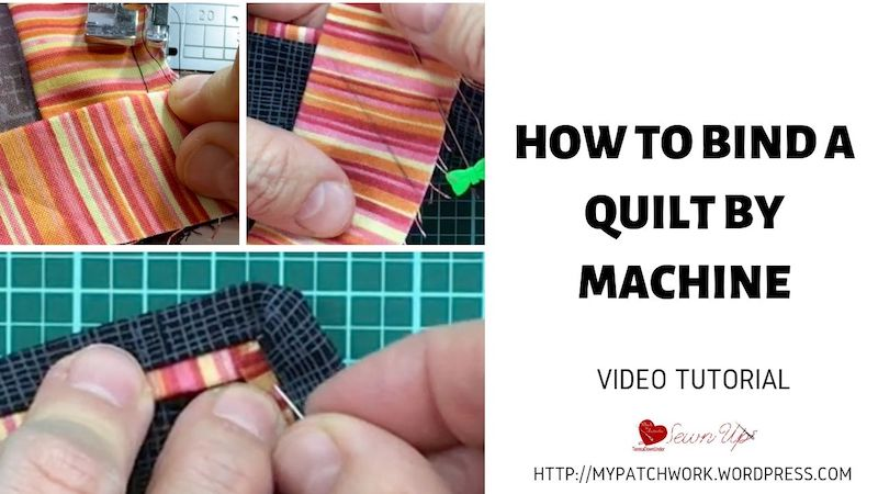 How to bind a quilt by machine video tutorial