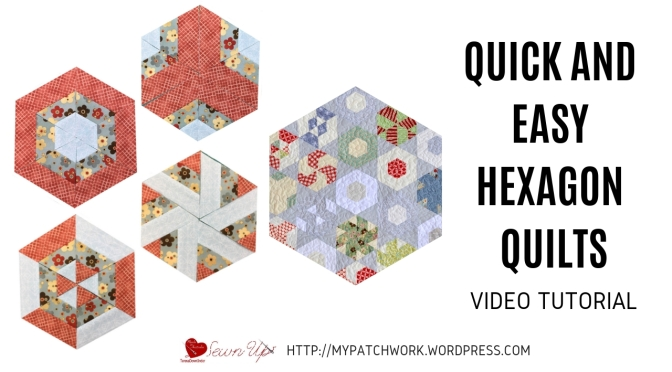 Quick and easy hexagon quilts – video tutorial