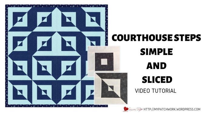 Courthouse steps and sliced courthouse steps quilt blocks