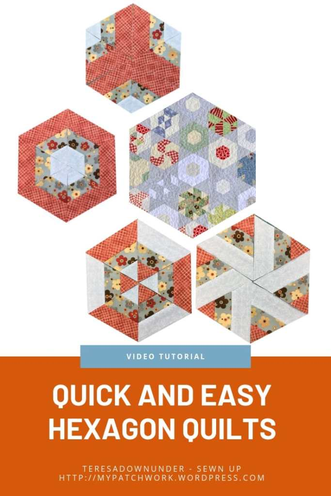 Quick and easy hexagon quilts