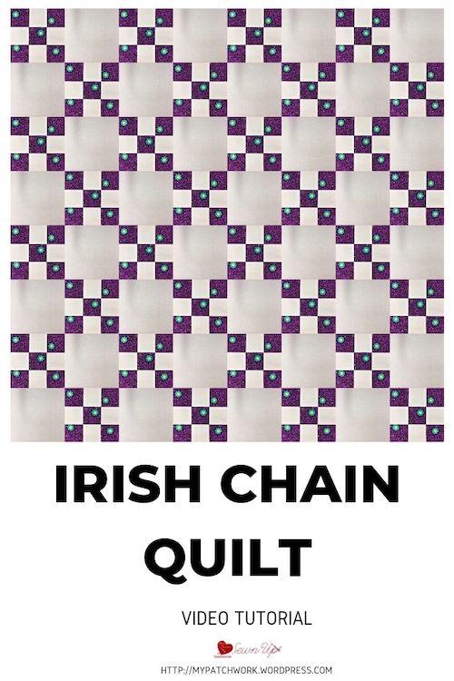 Simple Irish Chain quilt