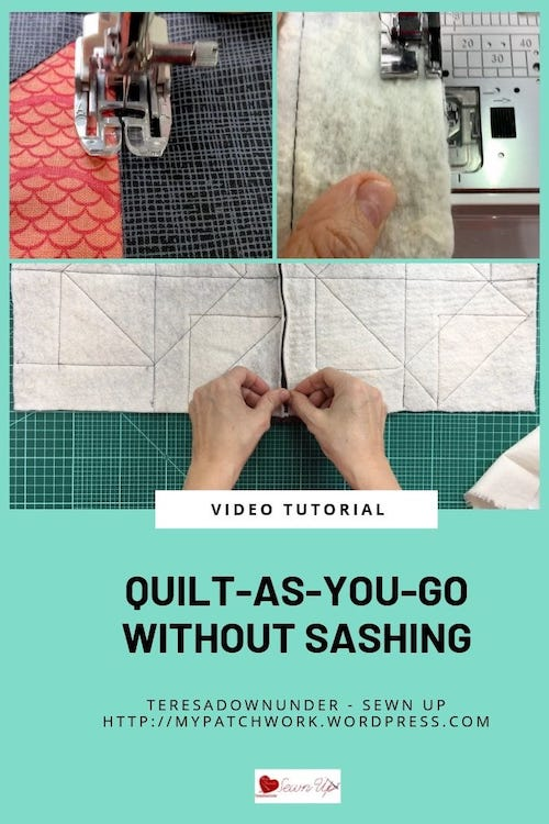 Quilt as you go without sashing