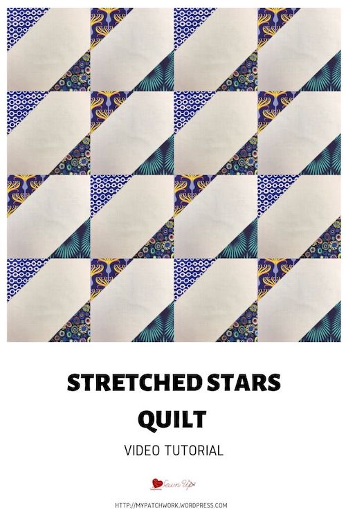 Stretched stars quilt block - video tutorial