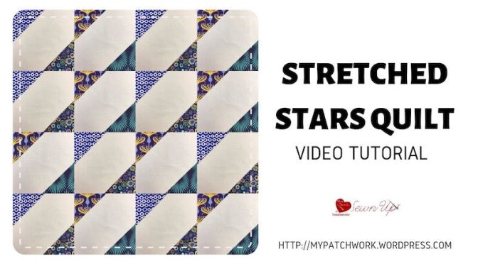 Stretched stars quilt block – video tutorial
