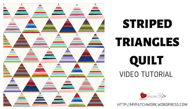 Striped triangles quilt video tutorial