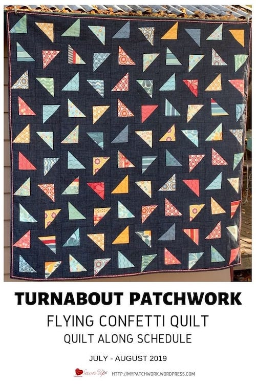 Turnabout patchwork quilt along schedule