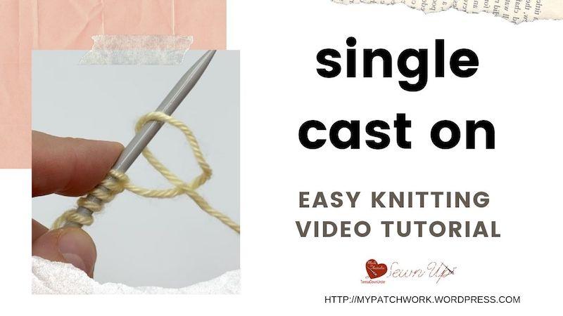 Single cast on - easy knitting video tutorial